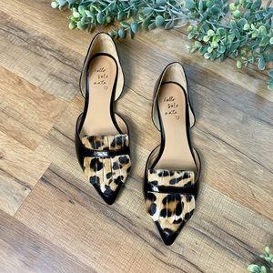 Banana Republic | Leopard Pointed D'orsay Flats